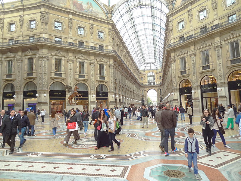 The Galleria Vittorio Emanuele II in Milano