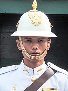a palace guard in Bangkok