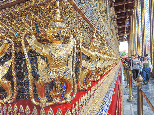Ornate exterior of a temple in Bangkok