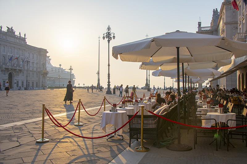 a cafe in Trieste in in Friuli Venezia Giulia