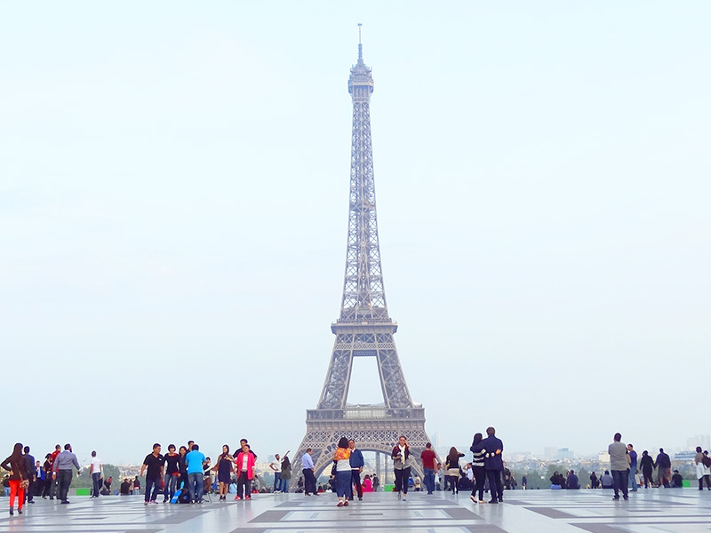 the Eiffel Tower, one of the places to visit in Paris
