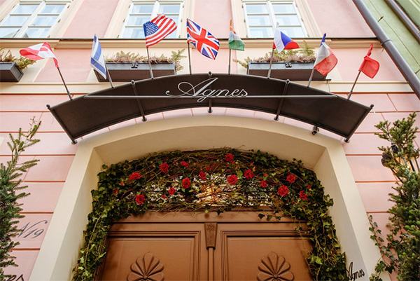 the front door of a hotel - best hotels in prague