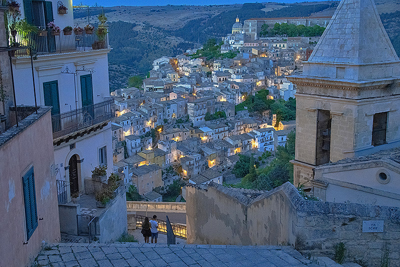 an ancient city at twilight - tour of sicily