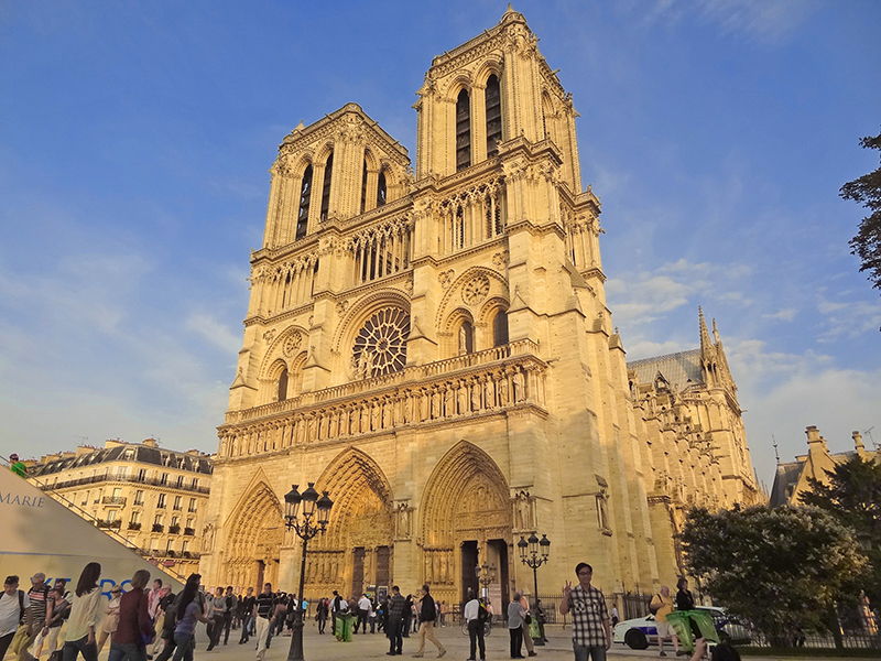 people outside Notre Dame Cathedral