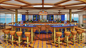 a pool-side bar on a ship - 3 day cruises