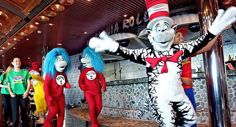 Dr. Seuss characters on a ship - 3 day cruises