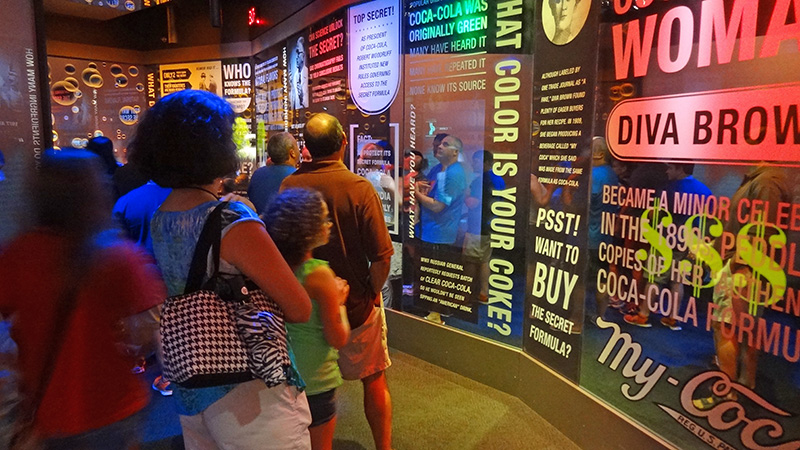 people on a tour of Coca-Cola, one of the things to do in atlanta with kids