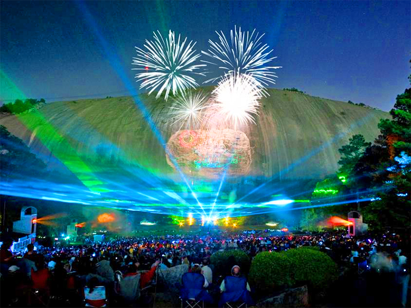 people watching fireworks