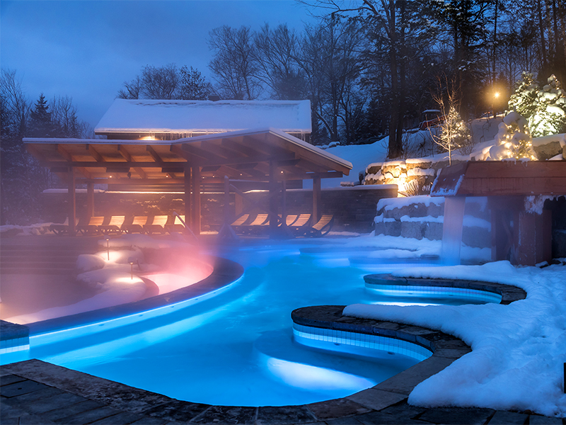Spa Scandinave in the snow