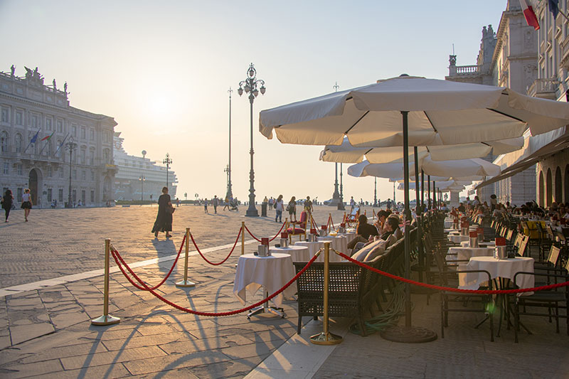 the Piazza Unità d'Italia in Trieste, one of the best travel experiences you can have in Italy
