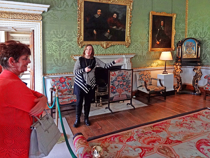 people on a tour in Castletown House