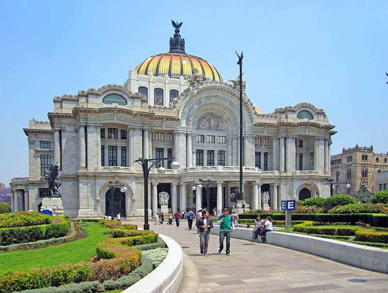 A Bellas Artes building in Alameda Park, Mexico City