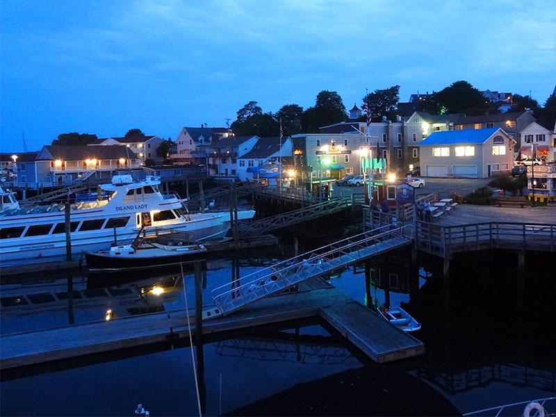 evening in Boothbay Harbor one of the most popular Maine coastal towns