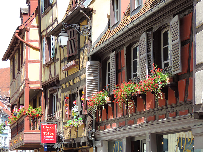old timbered houses in COlmar, a good place for unwinding
