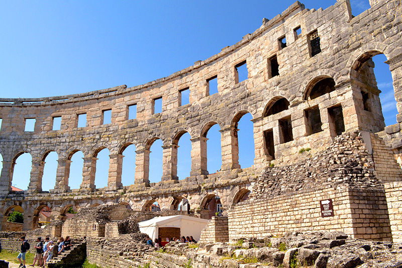 an old amphitheater