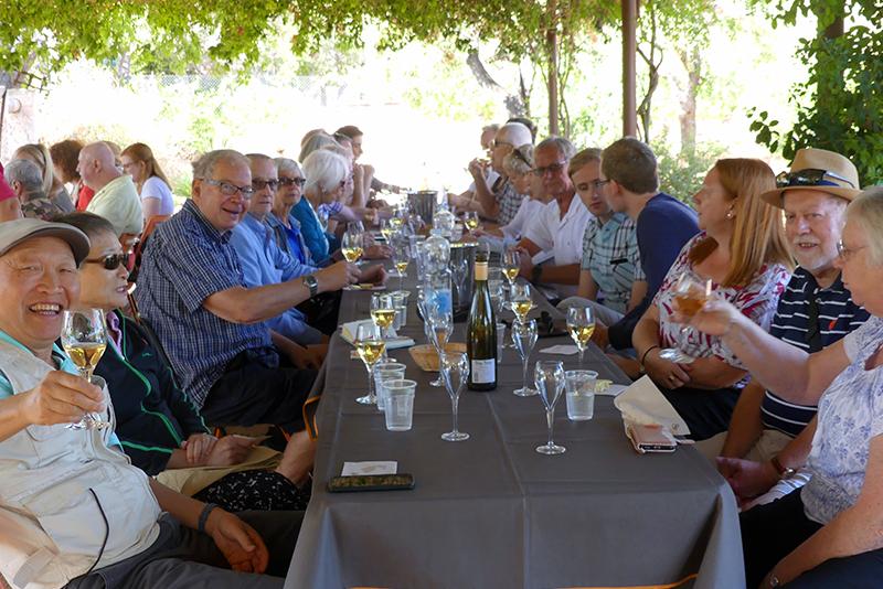 people tasting wines