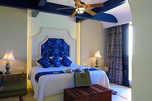 a bedroom at a Mayan riviera resorts all inclusive