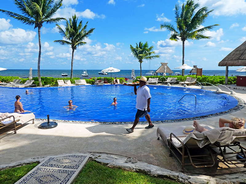 a pool at a Mayan riviera resorts all inclusive