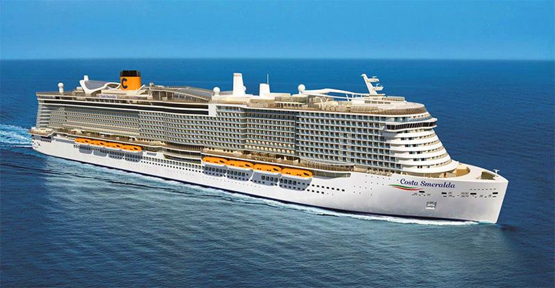 The Costa Smeralda for cruises 2020