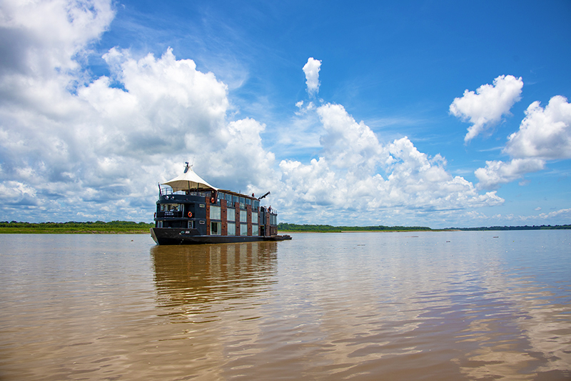 the Aria on an Amazon River cruise in Peru