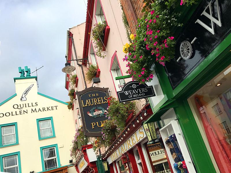 colorful buildings in Killarney Ireland