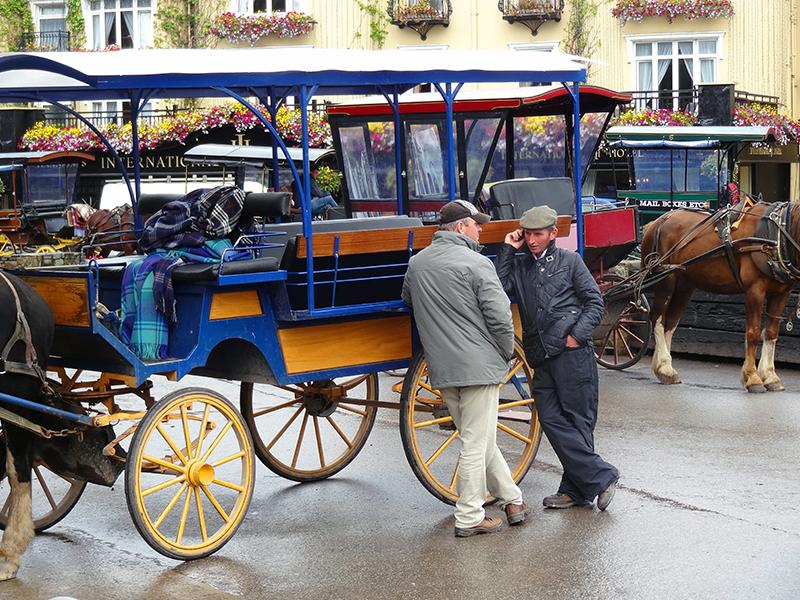 Horse cart drivers in Killarney Ireland